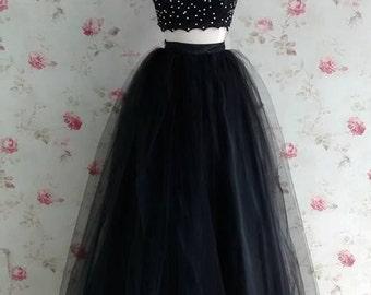 Custom made Tulle long skirt (great quality)