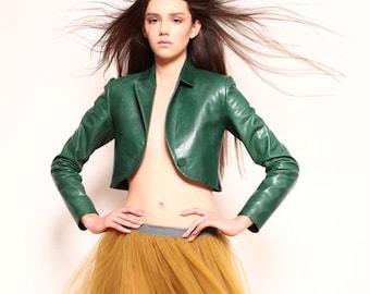 Leather jacket women, leather jacket, vintage jacket, rain jacket, black leather jacket, custom made jacket, bolero jacket.