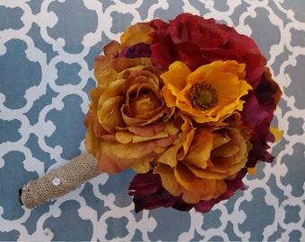 Autumn Theme Bridal Bouquet