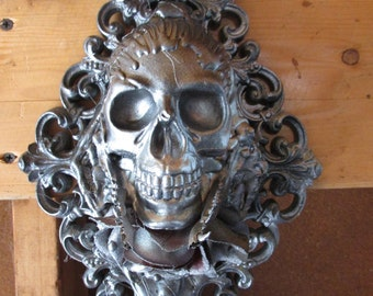 Skull Mixed Media Sculpture