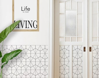 Geometric Removable Wallpaper, Self Adhesive & Paste and Glue Wallpaper, Home and Office Interior Design