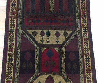 "2'11"" x 4'9"" New Afghan Turkeman Oriental Rug - Hand Made - 100% Wool Pile"