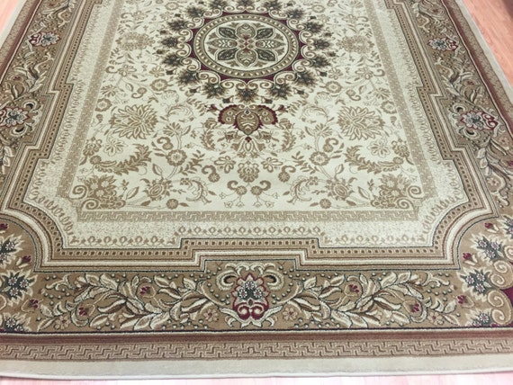 8' x 11' Turkish Aubusson French Design Oriental Rug - Tayse Sensation Collection