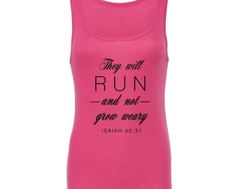 Womens Workout Shirt - They will RUN and not grow weary