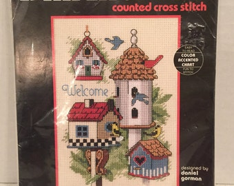 """Dimensions Counted Cross Stitch Kit Designed by Daniel Gorman 5""""x7""""            Unopened Package #6682"""