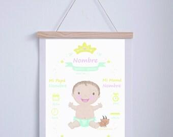 Blade birth baby Personalizada.a4.ilustracion Digital.AnabellaIlustracion