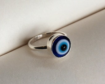 Evil Eye Sterling Silver Ring