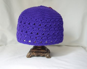 Adult Crochet Hat, Woman's Purple Hat, Crochet Hats for Adults, Woman's Purple Hat, Purple Crochet Hat, Purple Spring Hat,  Purple Hat Adult