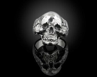 925 sterling silver skull ring #2