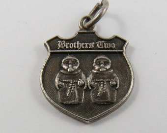 Brothers Two Sterling Silver Charm of Pendant.