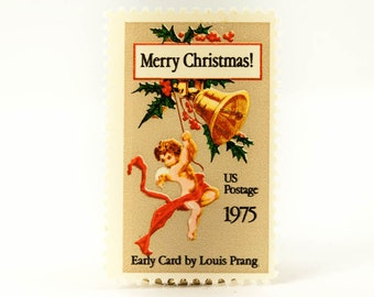 10 Unused Merry Christmas .10 cent Postage Stamps No. 1580