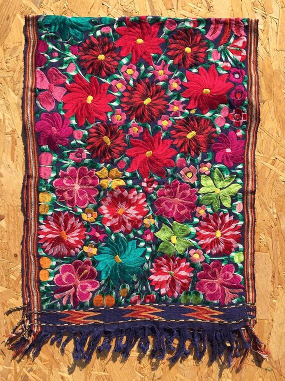 Mexikanischer Volkskunst Teppich Wandbehang Tischläufer von kuuxi