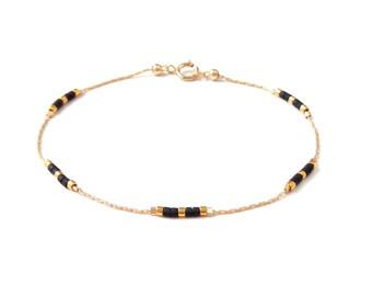 dainty gold bracelet bead simple bracelet everyday bracelet delicate bracelet