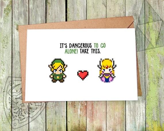 Zelda Zelda Card Zelda Gift The Legend of Zelda Legend of – Legend of Zelda Valentine Card