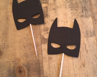 Batman cupcake topper