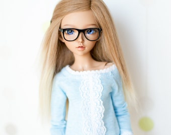 Minifee glasses, geek,  BJD , MSD , MNF ,  doll eyeglasses  *Nerd* , doll eyewear , custom doll
