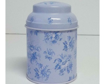 Vintage Style Blue Floral ~ Tea Tins