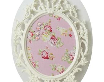 Shabby Chic Sunshine Roses Ornate Magnetic Memo Board