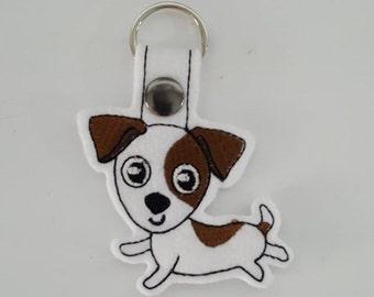 Jack Russell (Embroidery/Felt/Keychain)