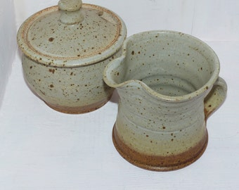 Cream and Sugar Set, hand thrown GB Pottery 482