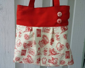 Genevieve - Cupid Toile Handbag