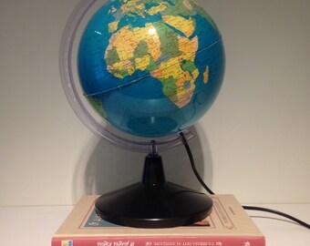 Vintage Globe Light - World Greek Globe - Greek Atlas