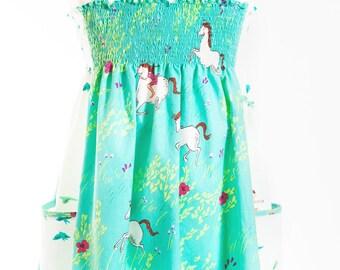 Shirred Sundress Cotton Dress Summer Dress