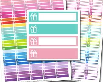 Birthday stickers, Birthday Present stickers, Birthday planner stickers, Birthday printable stickers, Gift stickers Present stickers STI-244