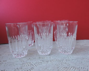 Six Lead Crystal Highball Glasses