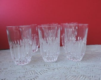 Six Lead Crystal Highball Glasses