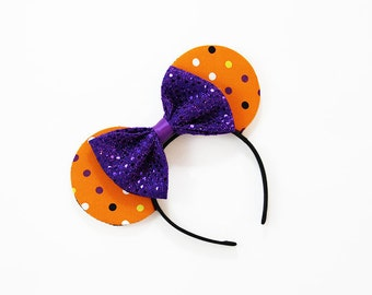 Halloween Polka Dot Mouse Ears