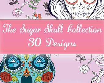 Colouring Designs - The Sugar Skull Collection