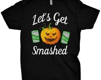 Let's Get Smashed Shirt Halloween Pumpkin T-shirt