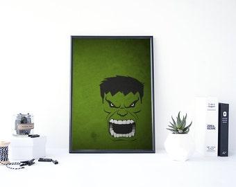Hulk Poster, Avengers Poster, Marvel Minimalist, Hulk Art, Superhero Minimalist, The Incredible Hulk, Avengers Minimalist, The Hulk