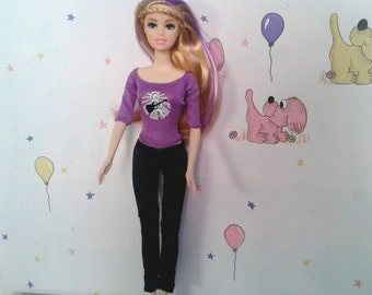 Modest Barbie Clothes, Barbie Casual wear, Girl's Birthday Gift, Barbie Fashion, Modest Doll Clothes, Modest Barbie Doll, Barbie Dress