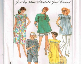 "Vintage Size 12, Eur 40, Simplicity Maternity Pattern #8720, Easy To Sew, Pants, Shorts, Dress or Top, Bust 34"" (87cm) Waist 26 1/2"" (67cm)"