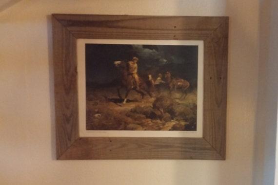 16 x 20 rustic wood picture frame. Black Bedroom Furniture Sets. Home Design Ideas