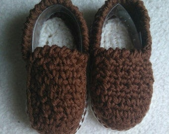 Type moccasin booties baby