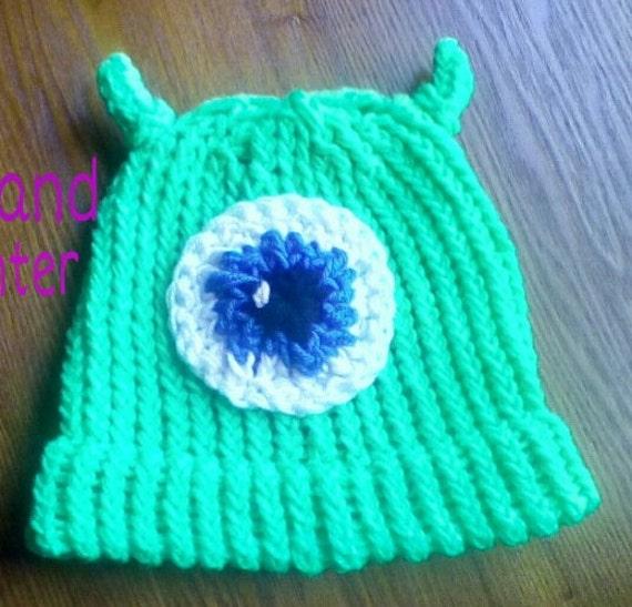 Monster Hat Knitting Pattern : Toddler/child size knit monster hat