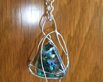 Caged Dichroic pendant