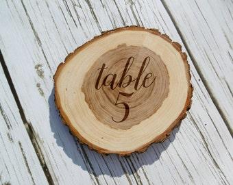 Wedding Table Numbers, Rustic Wood Slice, Laser Engraved, Custom, Personalized, Rustic Wedding, Table Number, Wedding Decor, Barn Wedding