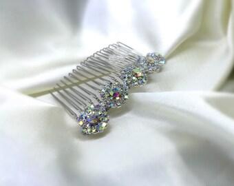 AB Rhinestone Comb, Hair Accessories, Bridal Comb