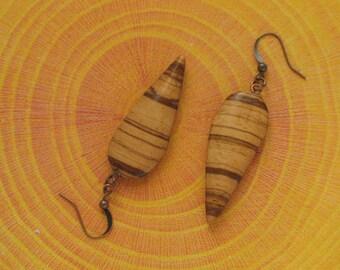 Zebrano earring