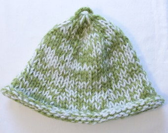 Green Brimmed Knitted Hat