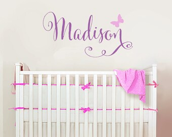 Girls Name Decal-Girls Bedroom Decal-Personalized Name-Name Wall Decal-Childrens Wall Decals- Girls Bedroom Decor