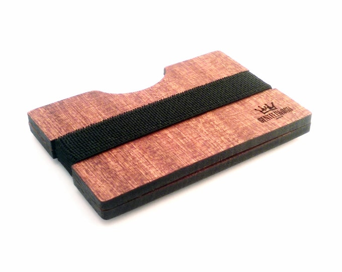 Sapeli Handmade Wood Wallet - Slim wooden wallet - credit card wallet - GenteelWood wallet - Minimalistic wallet - Valentines gift
