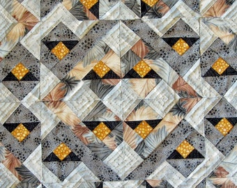 Gold & Silver Puzzle Jewels Quilted Wall-hanging