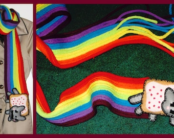 Nyan cat rainbow scarf