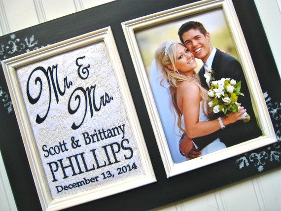 Wedding Gift Ideas For Wealthy Couple : Mr and Mrs wedding gift Personalized wedding gift 5x7 Wedding picture ...