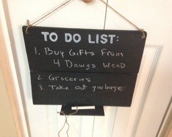 """Wooden Sign/Plaque Chalkboard """"To Do List"""""""